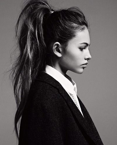 The pony is back, and this messy high pony style is one I would like to try! #hair #trend #hairstyle #fashion