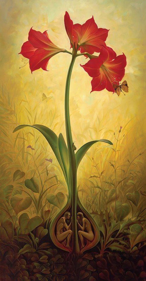 #vladimirkush #cuplu #floare #iubire #arta #pictura #art #painting