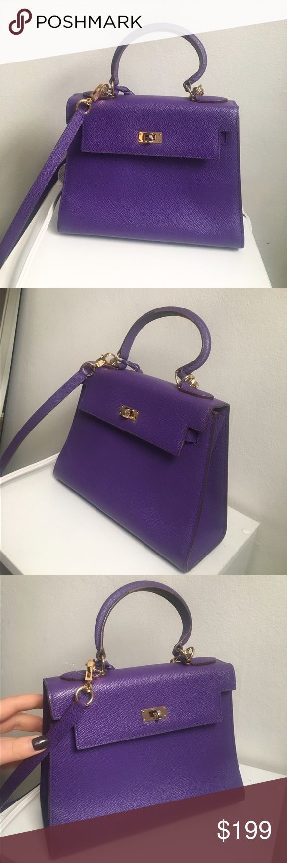 House of Hello Kelly Bag, not Hermes In great condition! It comes with the key, lock and original dust bag. House Of Hello Bags Satchels