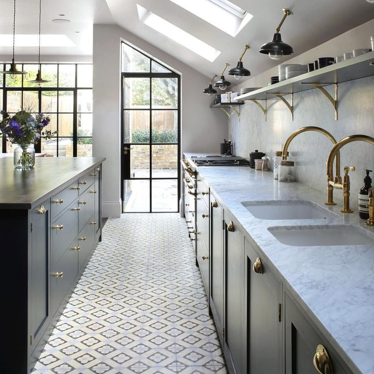 """830 Likes, 26 Comments - Bert & May (@bertandmay) on Instagram: """"Bright and breezy #kitchen using our #handmade #encaustic #tiles to add a flicker of #pastel…"""""""