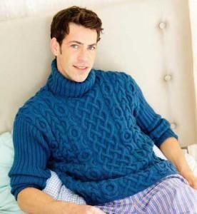 Бесплатные схемы вязания спицами мужских свитеров