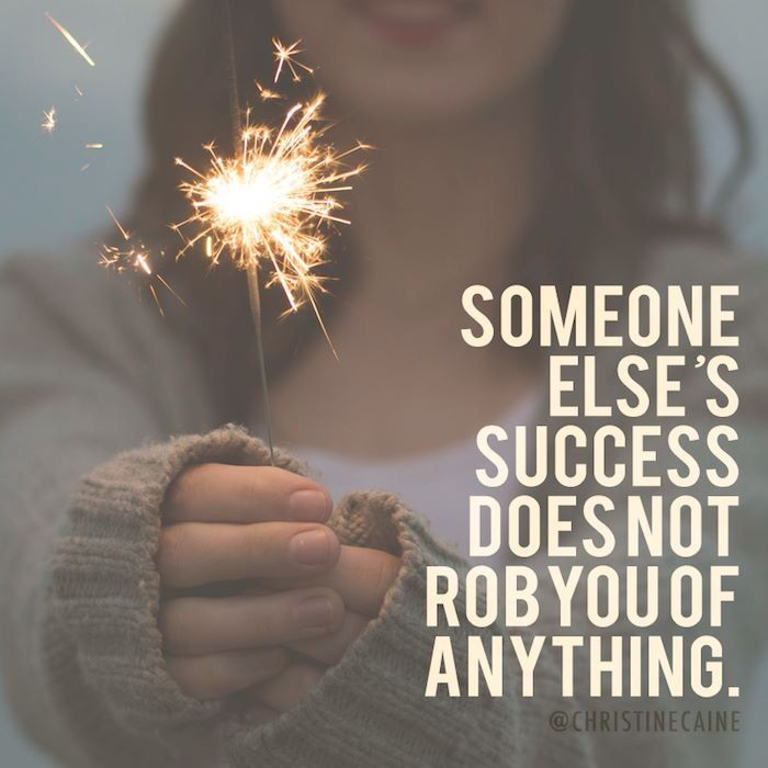 """Sometimes we think if other's are """"doing well""""-- then we're not doing something right. Feelings of jealousy can start to creep in..and then we find ourselves longing for somebody else's life due to their successes."""