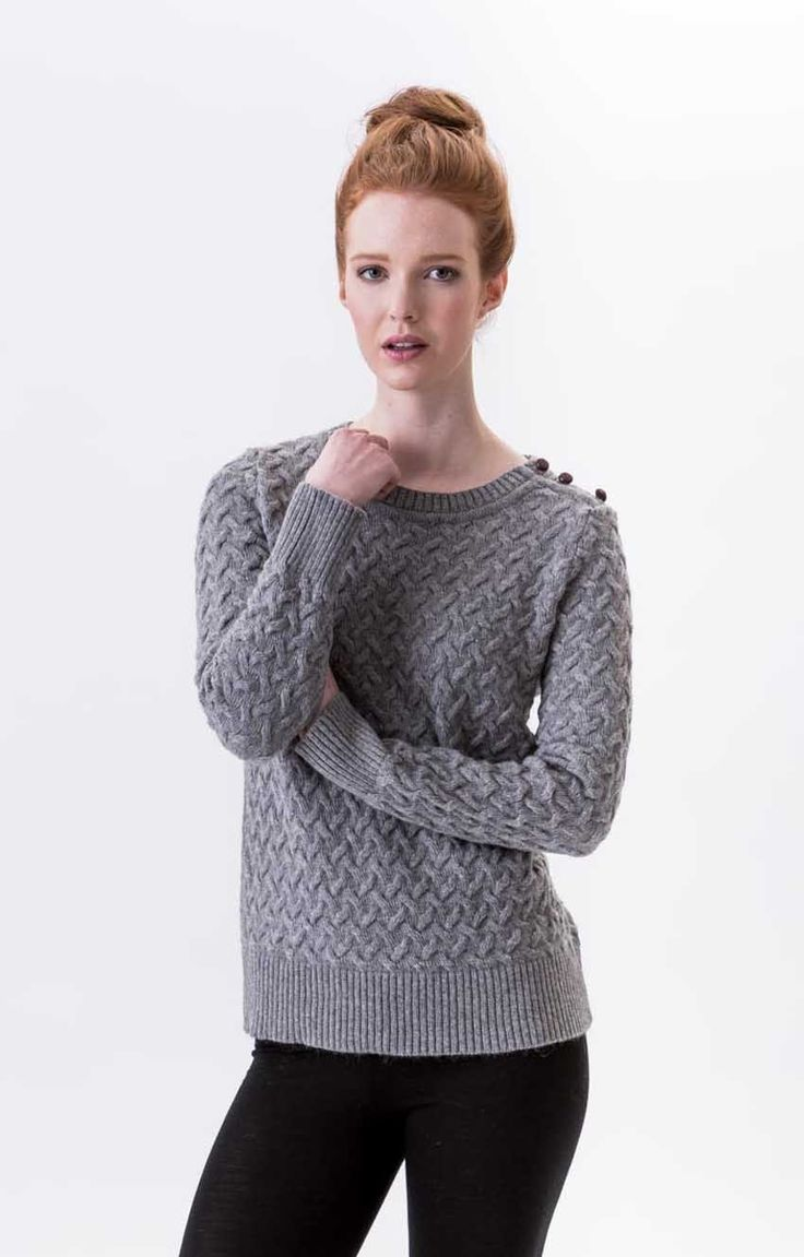 A lovely textured knit, which is very light weight and extra sumptuous. The Angora mixed with the merino makes for a textural delight and the leather shank buttons on the shoulder give it that PERRIAM vibe. Angora/Merino blend. Made in New Zealand.