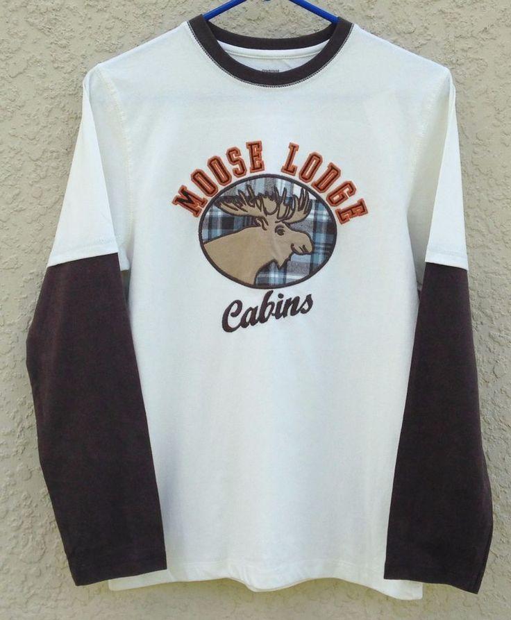 Gymboree Winter Moose Boys Moose Lodge Cabin Double Sleeve Shirt Sz 12 NWT #Gymboree #DressyEveryday