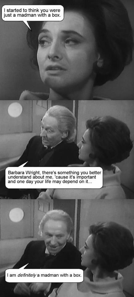 Awe!!! Because the first Doctor started it all! :D