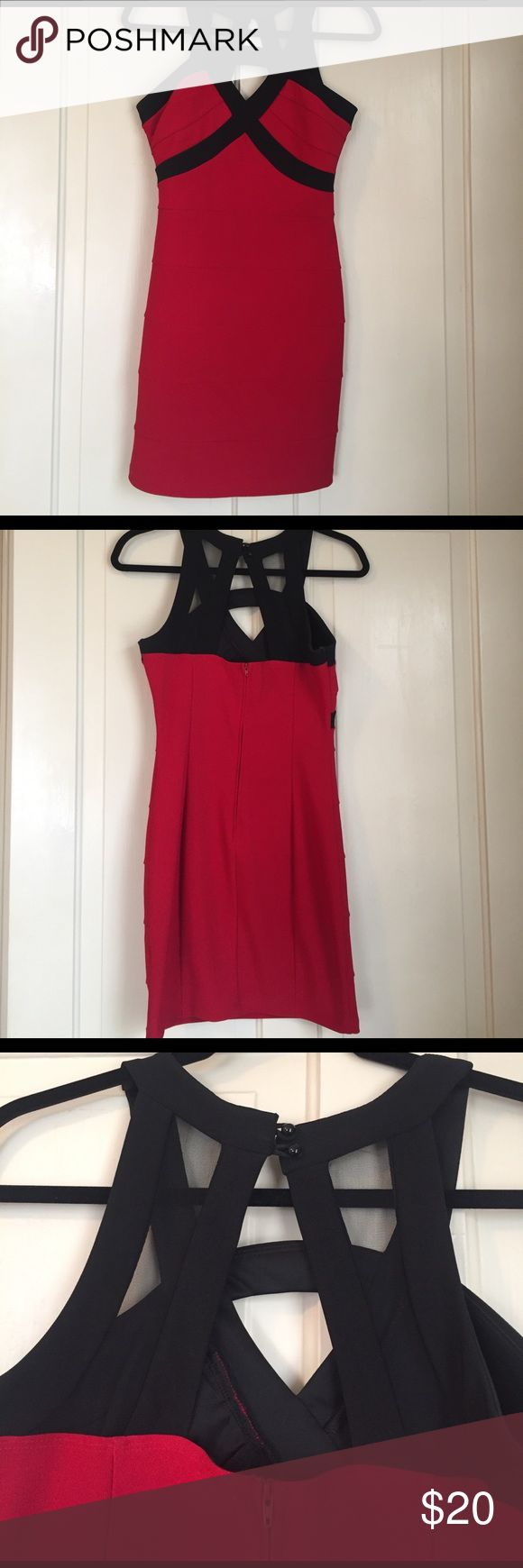 💥Red Party Dress💥 Like new, worn once. Red going out dress with black straps and black mesh back. Hits mid to high thigh.  1 marked item for list price ($5 and up) 2 marked items for $11 3 marked items for $16 4 marked items for $20   Plus only pay one shipping fee!   Just create a bundle and offer the appropriate price or I can privately offer you the price on any bundles! Comment with any questions. Ruby Rox Dresses Mini