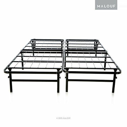 structures highrise lth 18 inch tall folding bed base high profile platform bed frame and - Fold Up Bed Frame