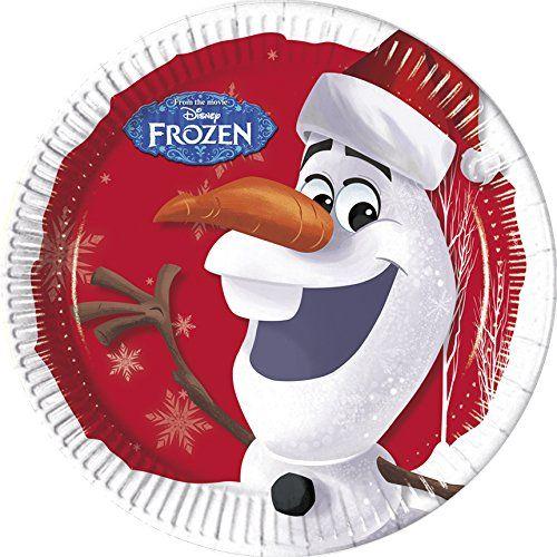 Disney La Reine des neiges Olaf de Noël Serviettes en papier: Lot de 8assiettes en papier de Noël Disney Frozen Olaf Frozen Olaf Noël…