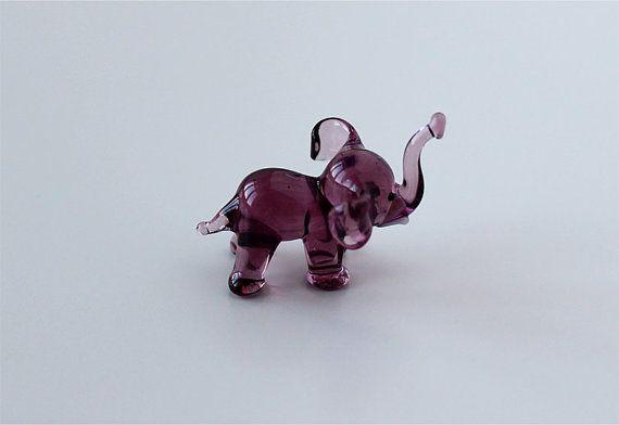 Blown Glass Figurine Russian Murano Art Miniature Tiny by GoldBark, $6.99