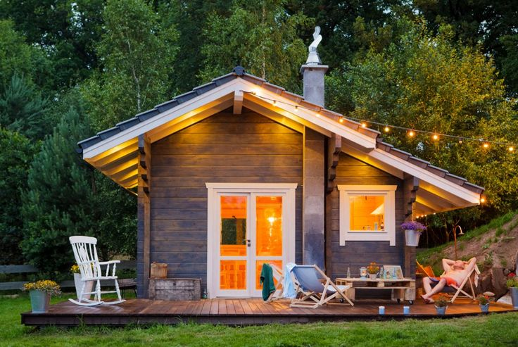 Деревянный дом, загородный дом, дерево, финский домик, wood house
