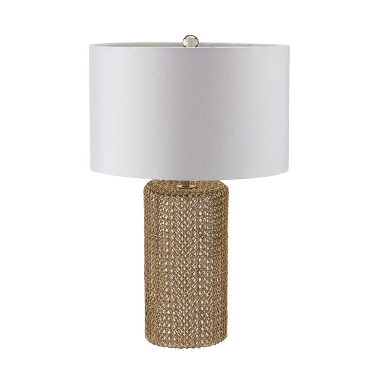 peyton gold pillar table lamp