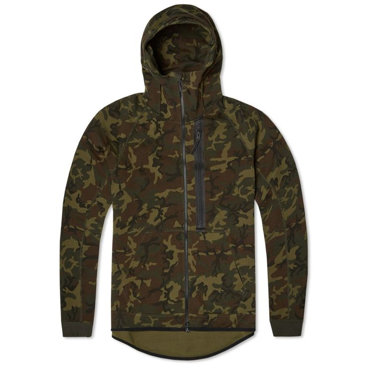 nike tech fleece camo aw77 hoody sequoia black my. Black Bedroom Furniture Sets. Home Design Ideas