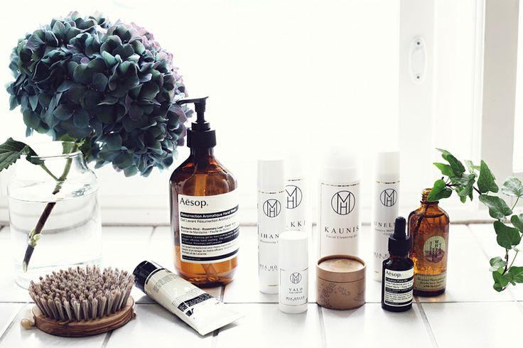 mia höytö cosmetics (+ a lovely hydrangea) // photo by Sara Karlsson