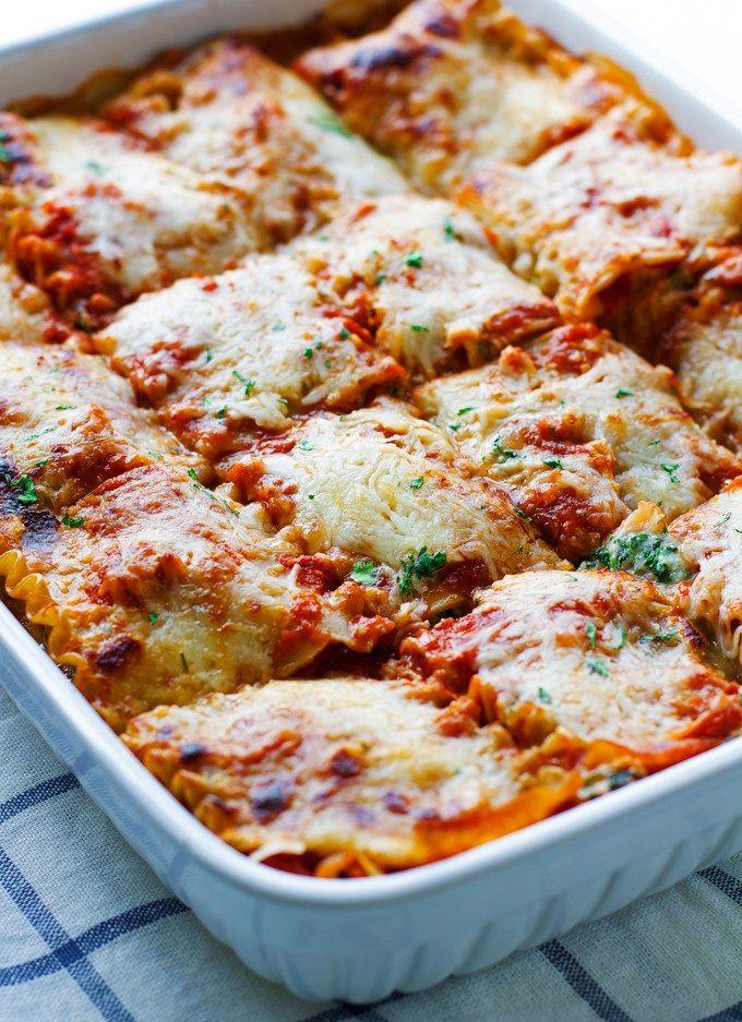 Skinny Mushroom Spinach Lasagna Recipe | Little Spice Jar