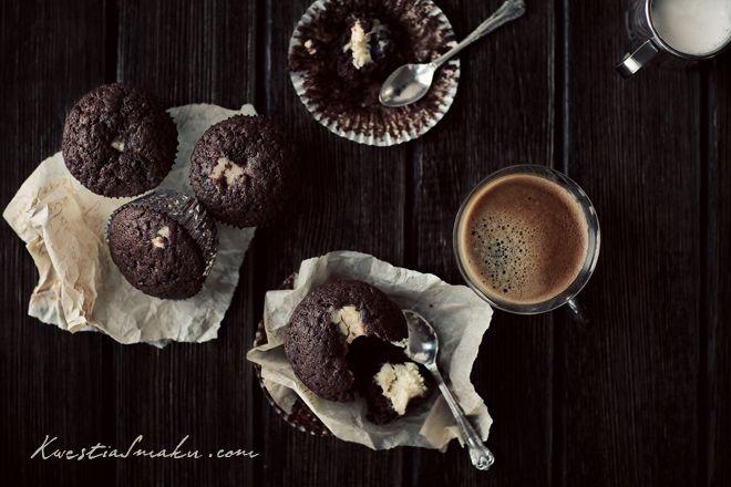 Muffinki czekoladowe z kremowym serkiem