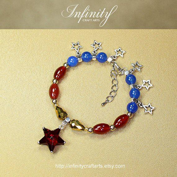 #Costume #accessory #Ruby #bracelet #Carnelian by #InfinityCraftArts https://www.etsy.com/ca/listing/240148558/costume-accessory-ruby-bracelet?ref=shop_home_active_5