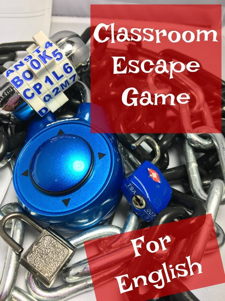 Middle School Escape Room Game for English