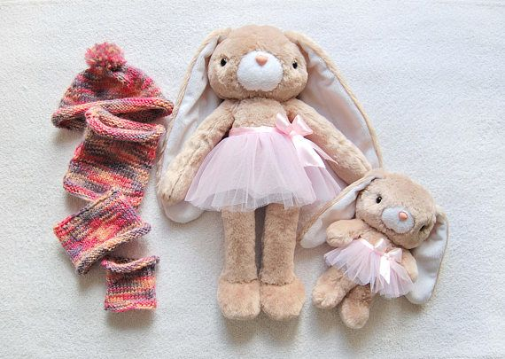 Toy with clothes Play Set Stuffed Rabbit Soft Bunny Gift