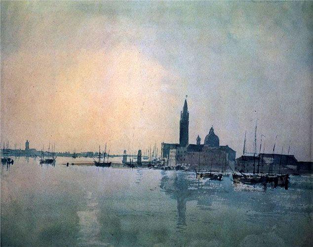 Уильям Тернер. Венеция, Сан Гуирджио из Доганы, восход солнца. 1812 г.