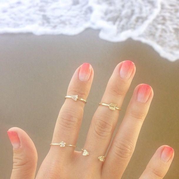 Lauren Conrad's ombre nails (via Instagram)