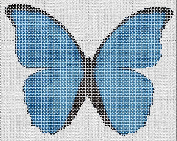 Blue Morpho PDF Cross Stitch Chart