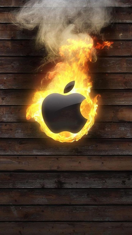 computer wallpaper-Burning Apple LOGO iPhone 6 Wallpapers                                                                                                                                                                                 Mais