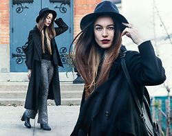 Kateryna Taylor - H&M 90 S Pants, Ebay Black Hat, Aldo Black Backpack - FEBRUARY