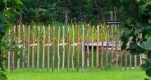 steccato in legno di castagno