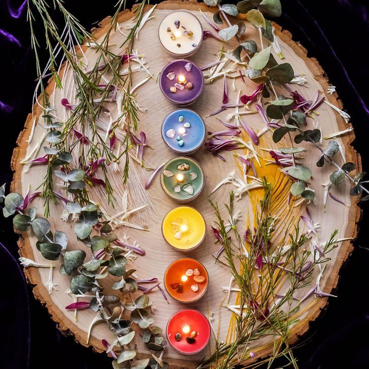 Chakra Tea Light Set to align all seven chakra centers