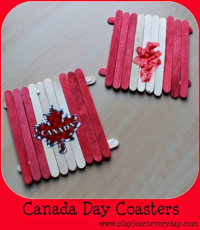 Play  Learn Everyday: Canada Day Coasters - Kids Craft