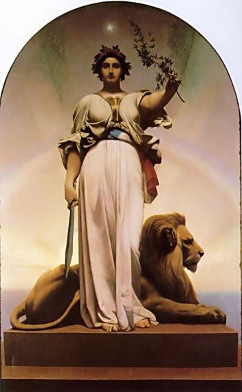 The Republic by Jean-Léon Gerome; ***This picture reminds me of the Statue of Liberty. I wonder if this artist is connected in any way?