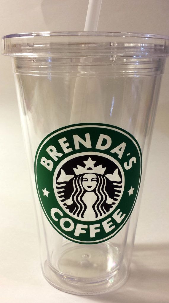 personalized  u0026quot starbucks u0026quot  decal for coffee cup  tumbler
