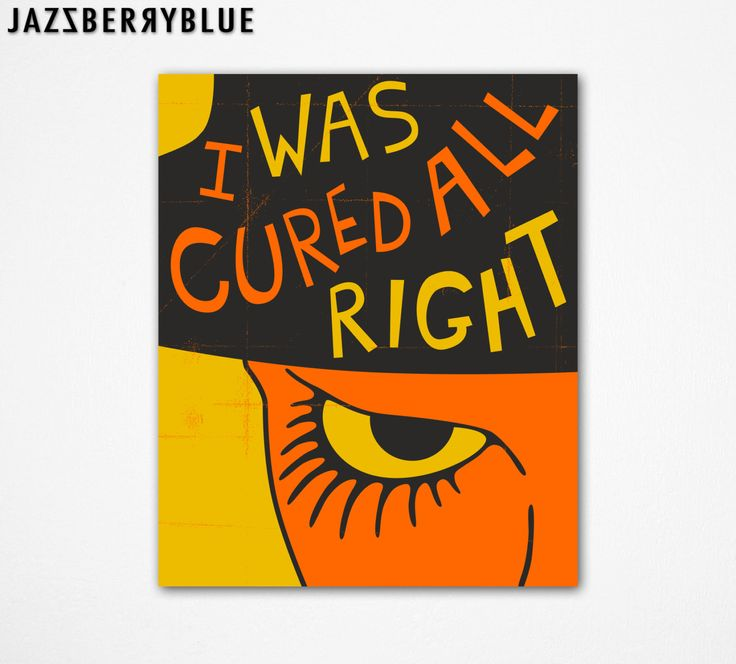 CLOCKWORK ORANGE Movie Poster Large GICLEE Fine by JazzberryBlue, $30.00