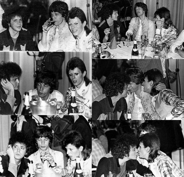 Лу Рид, Мик Джаггер и Дэвид Боуи, 1973 год