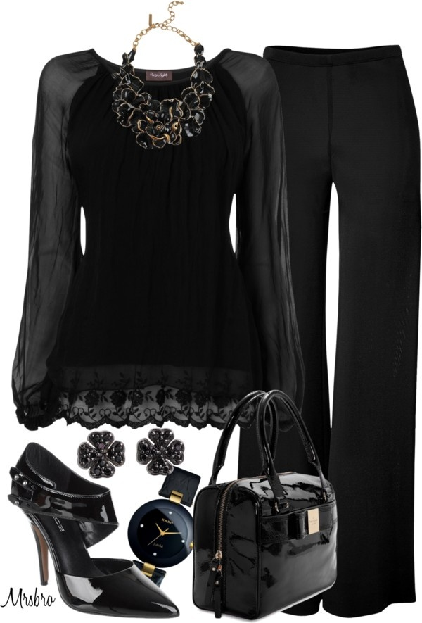 """""""Just Black"""" by mrsbro on Polyvore"""