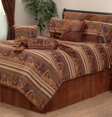 52 best images about bedding for western southwestern for Western style beds