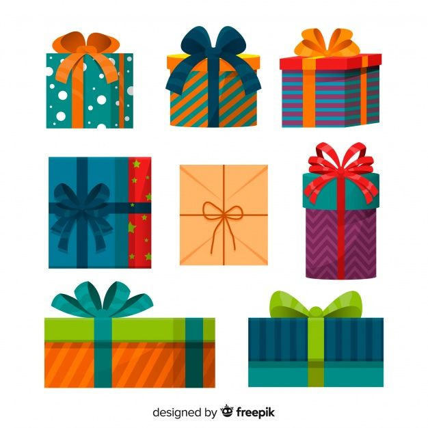 Download Christmas Gift Box Collection In Flat Design For Free Christmas Gift Vector Christmas Gift Box Gift Vector