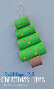 Toilet Paper Roll Christmas Tree Craft - The Resourceful Mama