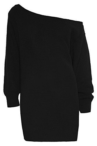 Womens Ladies One Off The Shoulder Chunky Knit Knitted Oversized Tunic Sweater Jumper Dress Plus Size, http://www.amazon.co.uk/dp/B00QU0DHRW/ref=cm_sw_r_pi_s_awdl_xmgFxbDAQBV95