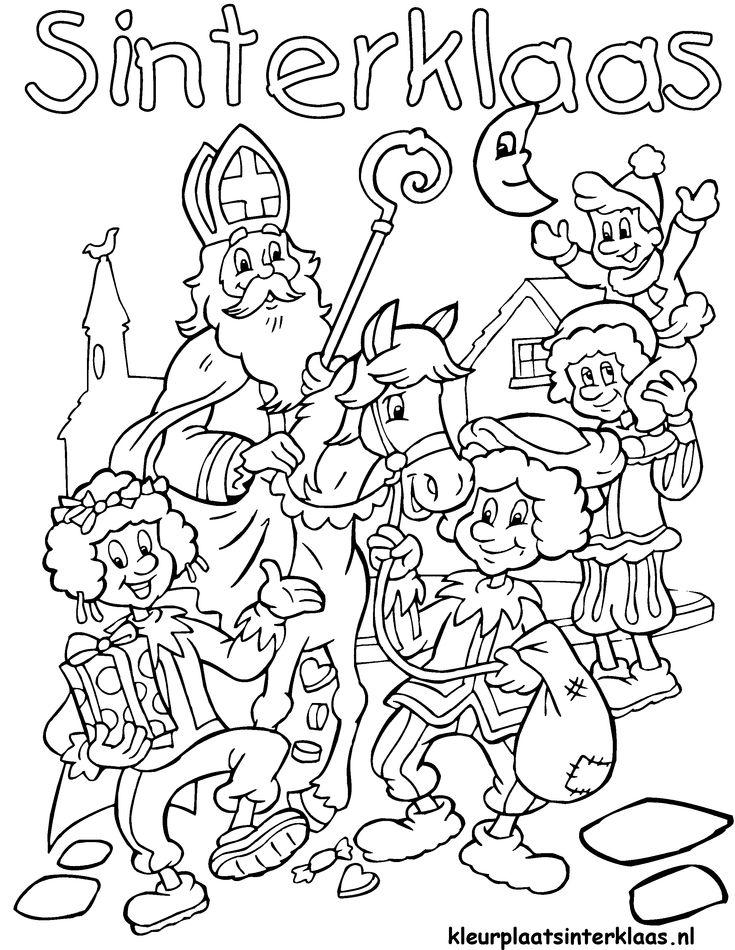Ben je al helemaal klaar voor de intocht van Sinterklaas? Kleur snel je intocht Sinterklaas kleurplaat in!