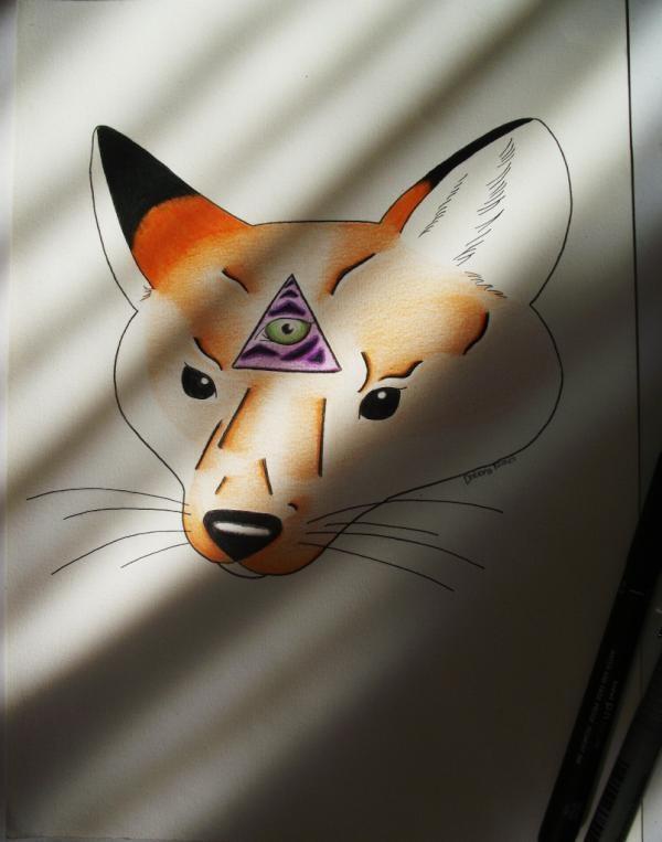 Oldschool fox By Debora Nunes