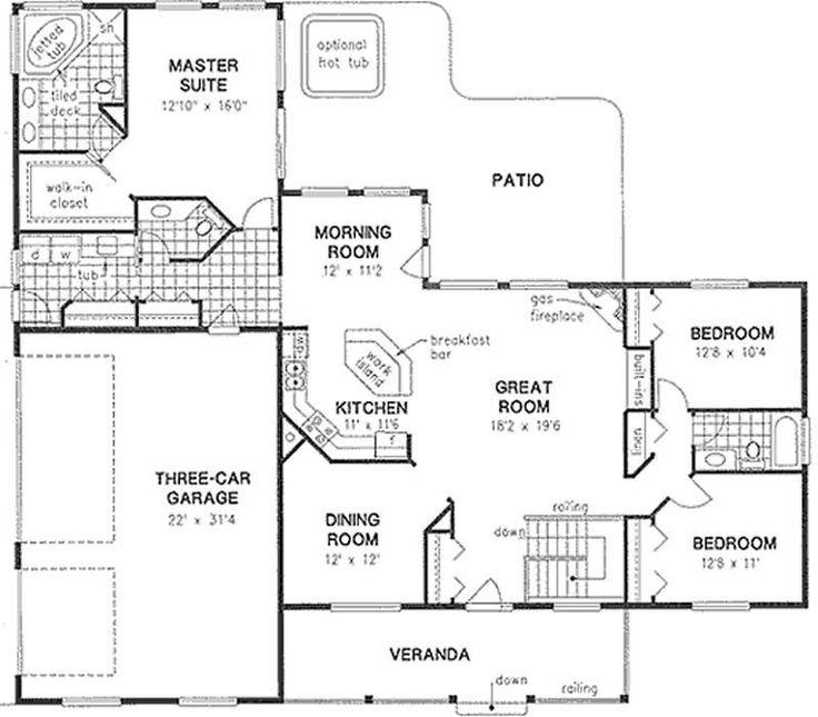 28 best home plans images on pinterest floor plans for 1010 family plan