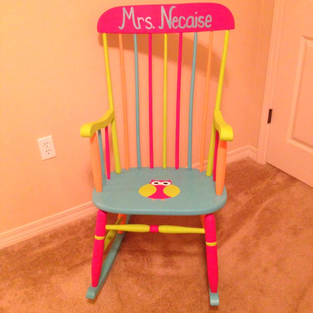 Owl classroom rocking chair! I want to make my rocking chair look like this!!!