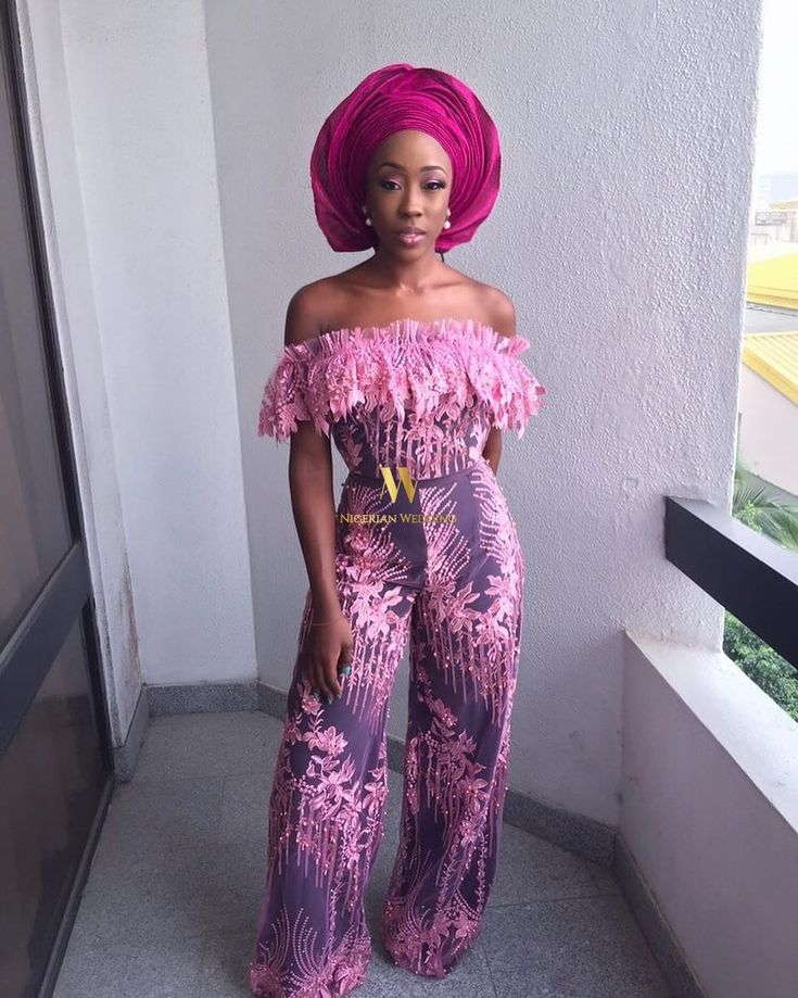 Wedding guests aso-ebi styles at Stephanie Coker's traditional wedding