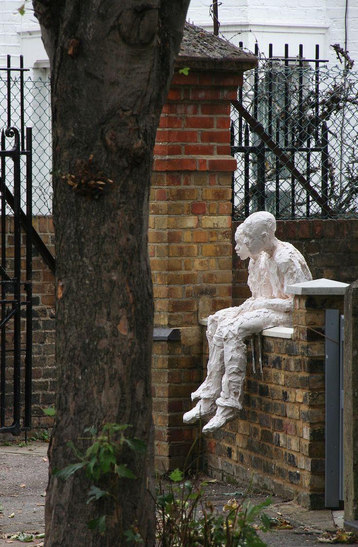 Sitting Around: plaster sculpture