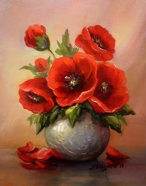 Как и все творческие люди, я очень люблю все красивое, от чего получаю заряд положительных эмоций. Сегодня это картины с изумительными цветами румынской художницы. Anca Bulgaru (Анка Булгару) родилась в городе Яссы, Румыния в 1955. Она училась в художественной школе Яссы. Ей выпала честь принимать участие в многочисленных коллективных выставках, которые сделали ее известной и на которых она получила множество наград.