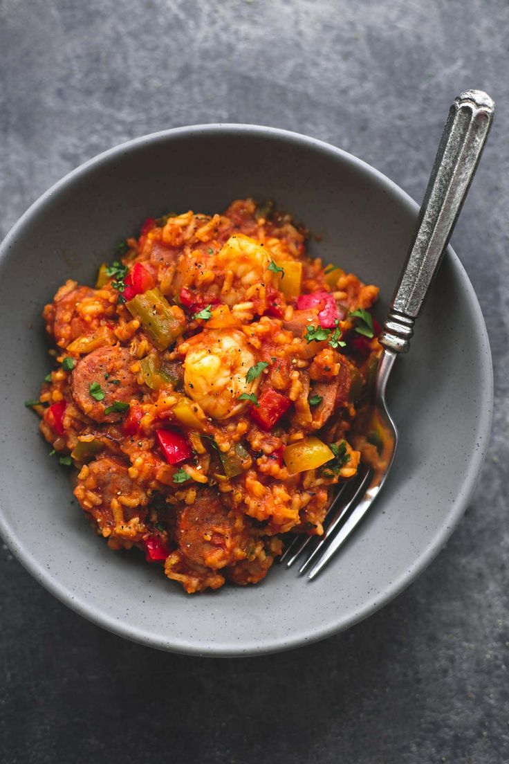 Spicy and flavorful slow cooker jambalaya is instant family favorite comfort food you will fix again and again. Way too easy and delicious to make only once!