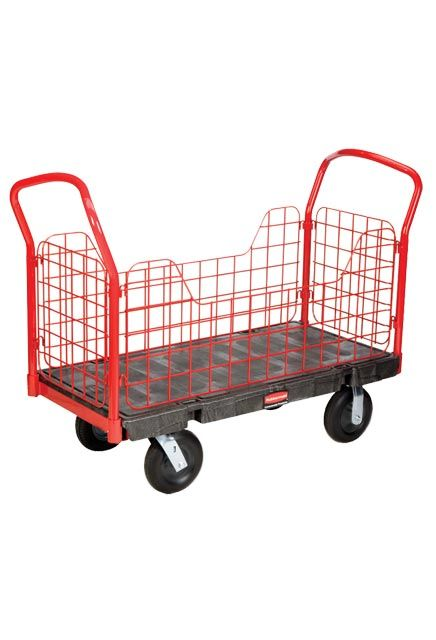 """Side Panel Handling Truck 24"""" X 48"""": Working cart 24"""" X 48"""" with side panel cut outs"""