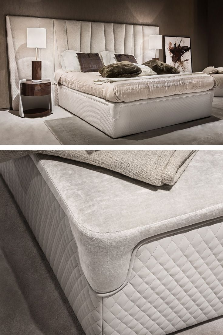 Modern Italian Bedroom Furniture Sets: Exclusive Modern Italian Leather And Velvet Bed In 2019
