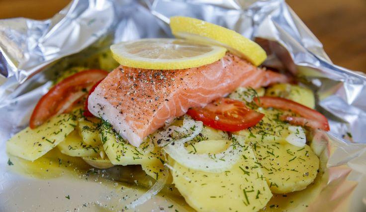 Perfekt grillmat! Fisk i folie är klassikern som alltid blir gott!